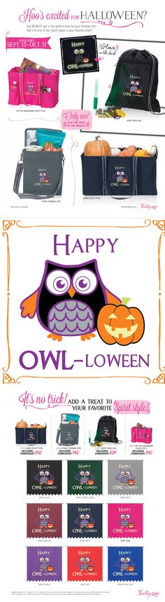 Glow-in-the-Dark thread! Thirty-One is offering a special Halloween Icon-It thru October 31, 2014 for select Spirit Collection items.