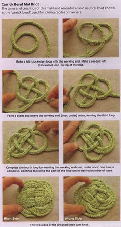 Knotted coasters & t...