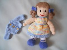 Doll Hand Knitted Doll Susie hand made doll by littledazzler ☆