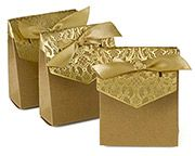 Naturally Vintage Tent Gold Favor Box (Set of 25) ~ 39510