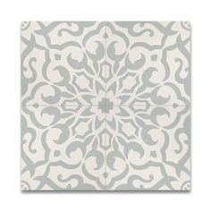Shop for Atlas Green and White Handmade Moroccan 8 x 8 inch Cement and Granite Floor or Wall Tile (Case of Get free delivery at Overstock - Your Online Home Improvement Shop! Get in rewards with Club O! Small Bathroom Paint, Bathroom Floor Tiles, Wall Tiles, Tile Floor, Bathroom Ideas, Downstairs Bathroom, Master Bathroom, Grey Tiles, White Tiles