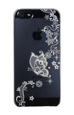 Clear Lace Butterfly for iPhone5
