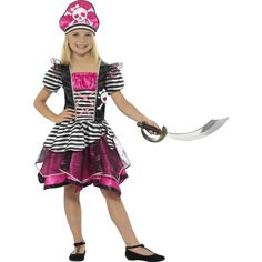 Perfect Pirate Girl Costume Perfect Pirate Girl Costume, Black & Pink, with Dres. - Happy Christmas - Noel 2020 ideas-Happy New Year-Christmas Costume Halloween, Halloween Costume Accessories, Halloween Costumes For Girls, Christmas Costumes, Girl Costumes, Halloween Party, Pink Costume, Costume Shop, Black Costume