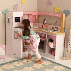 Brandon come make this for Lauren. Wooden Play Kitchen, Toy Kitchen, All Toys, Kids Toys, Great Little Trading, Playroom Decor, Little Girl Rooms, Infant Activities, Kid Spaces