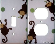 Light Switch or Outlet Cover Made to match Mod Pod by debbieshine