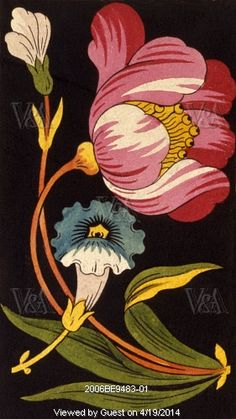 Flowers from the Mulhouse Pattern Book. France, 19th century