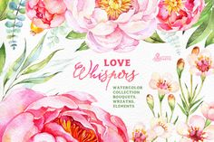 Posted by @newkoko2020 Love Whispers. Floral Collection by OctopusArtis on @creativemarket
