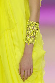 yellow dress and bracelet