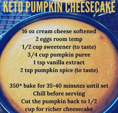 Easy Keto Friendly Cheesecake Recipes - New Site Low Carb Sweets, Low Carb Desserts, Low Carb Recipes, Diet Recipes, Healthier Desserts, Healthy Recipes, Low Carb Cheesecake, Cheesecake Recipes, Pumpkin Cheesecake