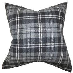 Add a touch of masculinity into your bedroom, living room or office space with this graphic throw pillow. This accent piece features a classic plaid pattern in various shades of gray and white. This accent pillow lends comfort and texture to your sofa, bed or seat. Made of 100% high-quality wool material. $55.00