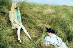EDITORIAL: Gerda Mic & Kirin Dejonckheere in Vogue April 2017 by Miles Aldridge — By The Sea — Photography: Miles Aldridge, Model: Gerda Mic & Kirin Dejonckheere, Styling: Cathy Kasterine, Hair: Seb Bascle, Make-Up: Lucy Bridge.