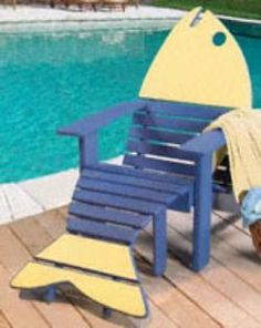 29-yf33 - Adirondack Fish Chair And Ottoman Woodworking Plan…