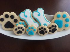 Dog Gone It Dog Bone and Paw Print Sugar Cookies by whichcrafts10