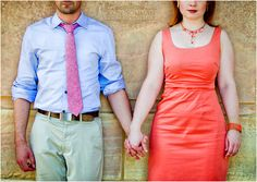 Engagement Photo - Coral colors - Philadelphia - By Ron Soliman Photojournalism