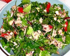 UPC's #Paleo Chicken Salad Lunch Salad #Recipe - a great alternative to using cold-cuts in your salads! #grainfree #glutenfree