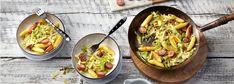 Dieses fixe Pfannengericht mit Kohl und Schupfnudeln eignet sich ideal als herzhaftes Hauptgericht. Finden Sie hier das smarte REWE Rezept für kalte Herbstage »