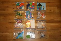 kids activity bags. Brilliant!