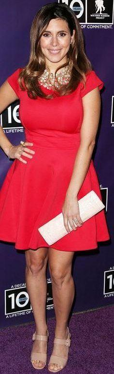 Who made Jamie-Lynn Sigler's red dress? Dress – Ted Baker