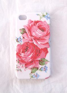Summer Red Roses iPhone 4 4S or iPhone 5 Case iPhone Back Cover. $18.95, via Etsy.