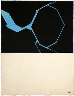Pablo Palazuelo - Sin título; serie: Sigila. 1977.