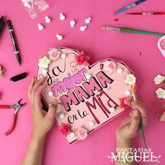 Fun Crafts, Diy And Crafts, Crafts For Kids, Bf Gifts, Craft Gifts, Friend Birthday Gifts, Mom Birthday, Diy Letters, Mother's Day Greeting Cards