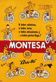 montesa brio 80 Bike Poster, Motorcycle Posters, Motorcycle Types, Vintage Bikes, Vintage Motorcycles, Motos Trial, Midnight Rider, Beauty And The Best, Ex Machina