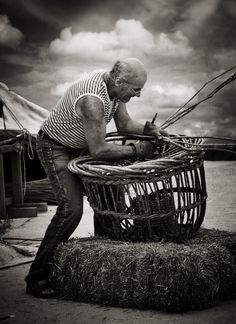 "Basket Weaving ~ (""The Craftsman"" by Audran Gosling, via 500px.)"