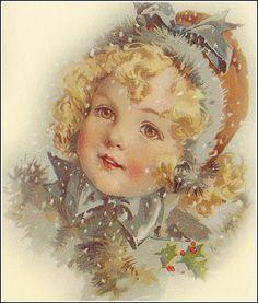 Cute—vintage winter/Christmas illustration❣