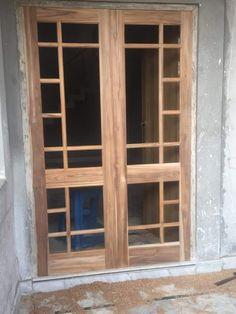 Indian Window Design, Wooden Window Design, Wooden Glass Door, Window Glass Design, Door And Window Design, Wooden Window Frames, Wooden Main Door Design, Bedroom Door Design, Door Design Interior