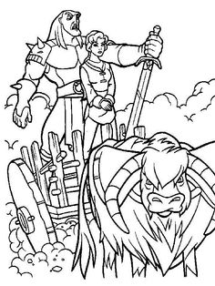 The Magic Sword: Quest for Camelot Coloring pages for kids. Printable. Online Coloring. 12