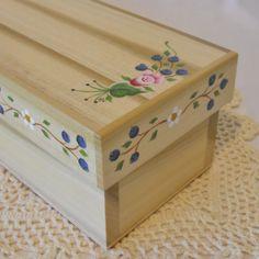 Decorative OOAK Poplar Wood Keepsake Box by 2HeartsDesire on Etsy, $42.50
