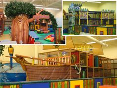 Themed book entrance, ship, castle, tree and soft toddler play area  ~~~ #FEC #Development #Iplayco #playground #family #entertainment #indoorplayground #structure #custom #themed #ship #castle
