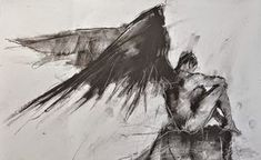 Guy Denning, born in North Somerset, has been obsessed with visual art since childhood and started painting in oils at the age of eleven after receiving a set of old paints from a relative that had grown bored with them. Art Sketches, Art Drawings, Angel Warrior, Ange Demon, Abstract Painters, Angels And Demons, Angel Art, Urban Art, Dark Art