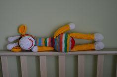 Crocheted Toy - Multi color giraffe