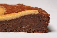 Chocoroi : biscuit moelleux au chocolat légèrement salé et garni d'une crème pâtissière chocolatée...
