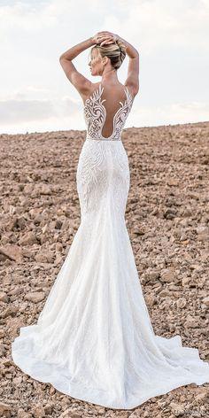 lian rokman 2017 bridal sleeveless deep plunging sweetheart neckline full embellishment elegant trumpet wedding dress lace back chapel train (zircon) bv -- Lian Rokman 2017 Wedding Dresses
