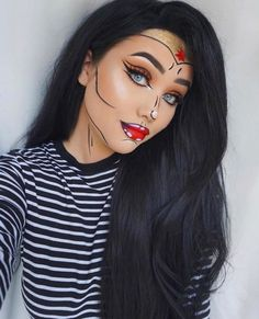 Are you looking for ideas for your Halloween make-up? Browse around this website for cute Halloween makeup looks. Pop Art Makeup, Makeup Tips, Eye Makeup, Makeup Ideas, Makeup Inspo, Makeup Case, Airbrush Makeup, Makeup Goals, Makeup Brushes