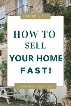 Lots of ideas, tips and tricks for making a quick house sale. When you need to sell your home fast, you need these tips. Do the prep, throw up a sign and a banner, and don't forget the staging. Preparing well for a house sale will really be a good investment.   #housesale #lovechicliving Sell Your House Fast, Selling Your House, Uk Homes, Best Investments, Designer Wallpaper, Staging, Don't Forget, Home And Family, Banner