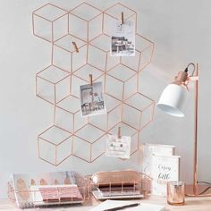 Rose gold swanky office supplies