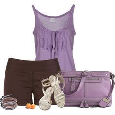 """""""Lilac and Brown"""" by angkclaxton on Polyvore"""