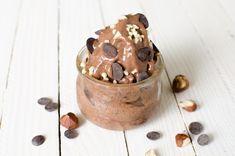 Glace sans lactose chocolat noisette
