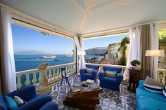 The Bellevue Syrene, Sorrento, Italy.  This hotel is even more beautiful in person, the pictures are great but do not do it justice.  I hope to go back some day!