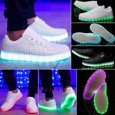 Unisex Mujer Hombre LED Luz USB Luminoso Con Cordones Zapatos Deportivos Tenis Zapatillas in Ropa, calzado y accesorios, Calzado de mujer, Atlético | eBay