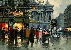 Arc de Triomphe - Antoine Blanchard - WikiPaintings.org