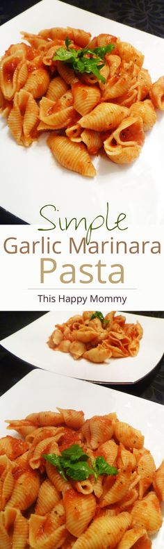 Wow! Simple Garlic Marinara Pasta is so yummy. My whole family loved it and it was so easy to make.| thishappymommy.com