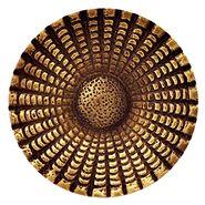 2 Inch Solid Brass Art Deco Style Round Knob (Antique Brass Finish)