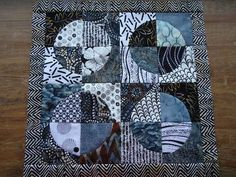 """We have lots of new samples, kits, books and patterns as well as lucious hand dyed wool from """"Wooly. Drunkards Path Quilt, Curve Design, House Quilts, Challenge, Jewels, Blanket, Black And White, Patterns, Sewing"""