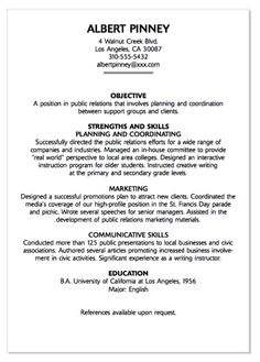 sample copy of a resumes