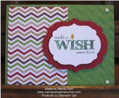 Make a Wish Birthday Card with Chevrons www.nendyscreativecorner.com