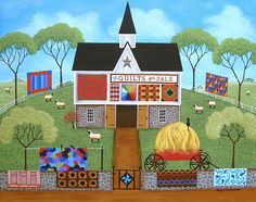 The Quilt Barn Print By Mary Charles